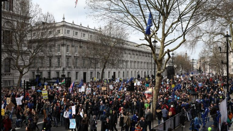 'One million protesters' march through London to demand People's Vote