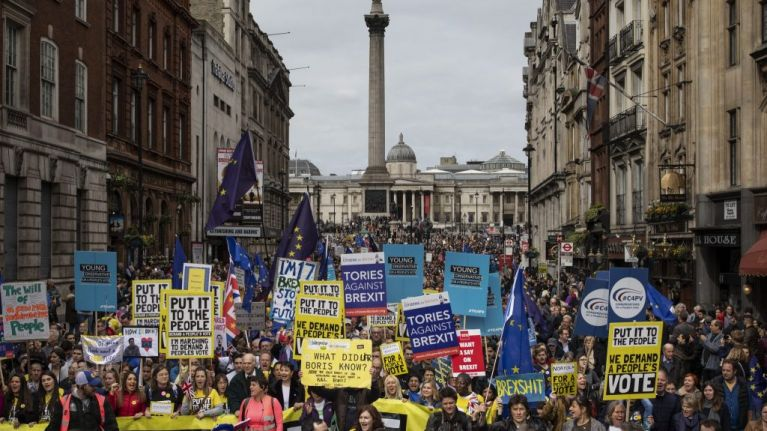 Estimated one million rally for People's Vote in largest protest since Iraq War