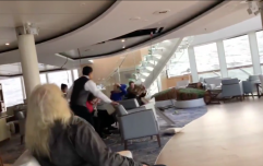 Norway cruise ship evacuated after rough seas send tables tumbling across deck