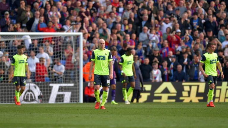 Huddersfield equal unwanted record as they're relegated from Premier League