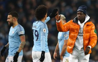 Stewards mistake Benjamin Mendy for pitch invader at final whistle of Man City vs Liverpool