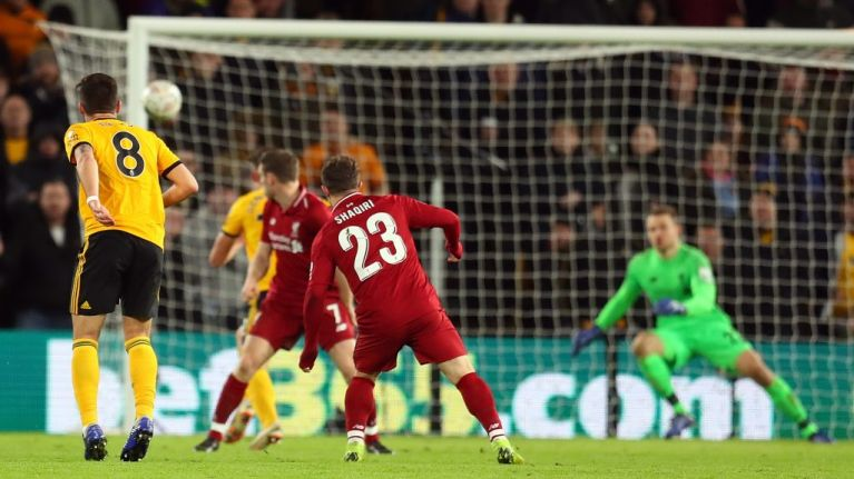 Ruben Neves stunner knocks Liverpool out of FA Cup