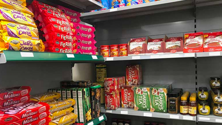 A shop that sells all Irish food products has opened in London