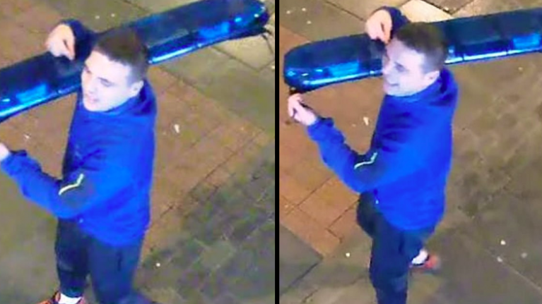 Police hunt man who stole blue light from top of cop car