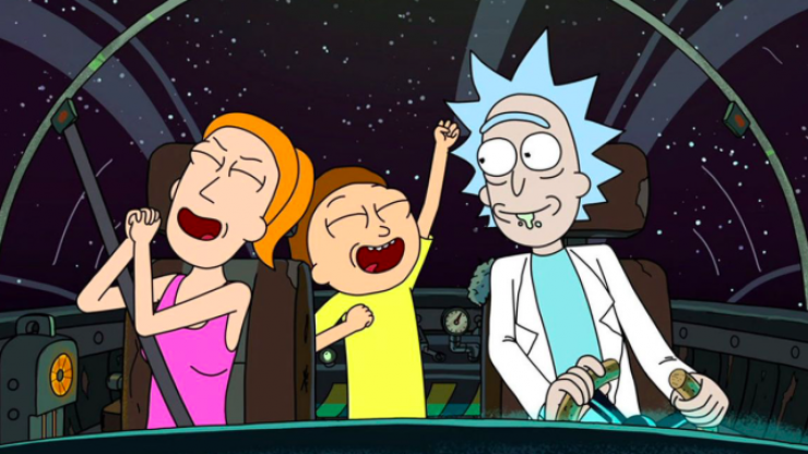 Rick and Morty comes to E4 for the first time this evening