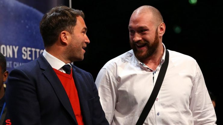 Tyson Fury camp responds to April 13 Anthony Joshua fight claims from Eddie Hearn