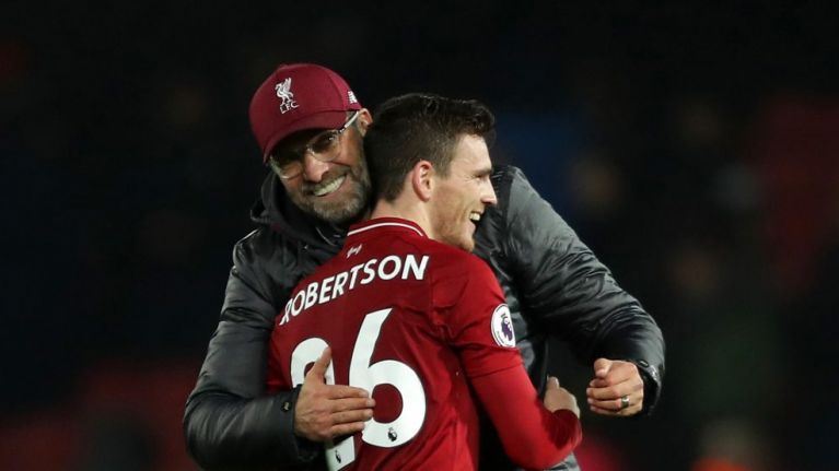 "Jurgen Klopp reveals Andy Robertson renewed Liverpool deal in ""almost record time"""