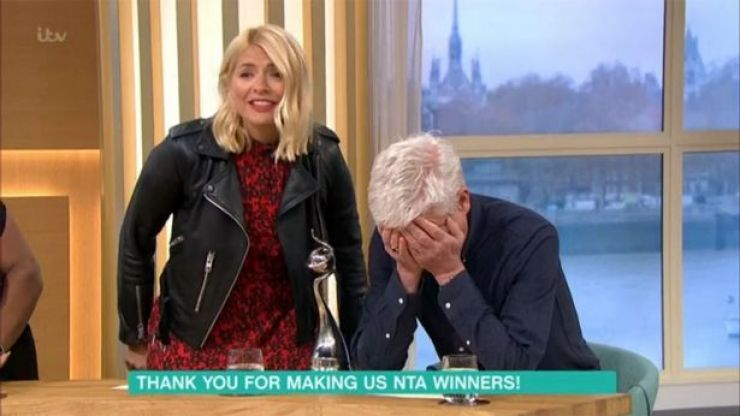 Hungover Phillip Schofield 'sick in helmet' after National Television Awards