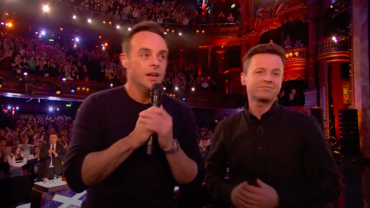 Ant McPartlin delivers emotional acceptance speech at National TelevisionAwards