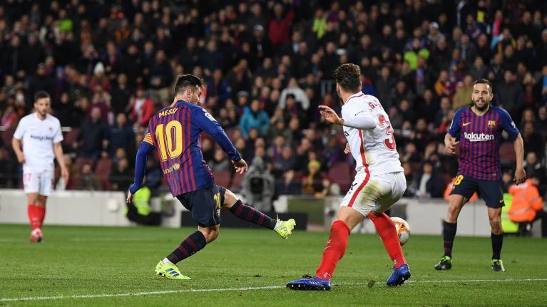 Lionel Messi starts and finishes astonishing team goal in Barcelona demolition of Sevilla