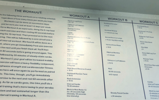 The East London boxing gym where your workouts are written on the wall