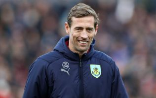 Burnley fans welcome Peter Crouch with perfect sign on top of bridge