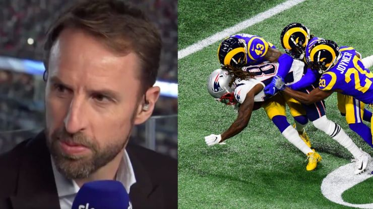 Viewers loved Gareth Southgate's Super Bowl LIII appearance
