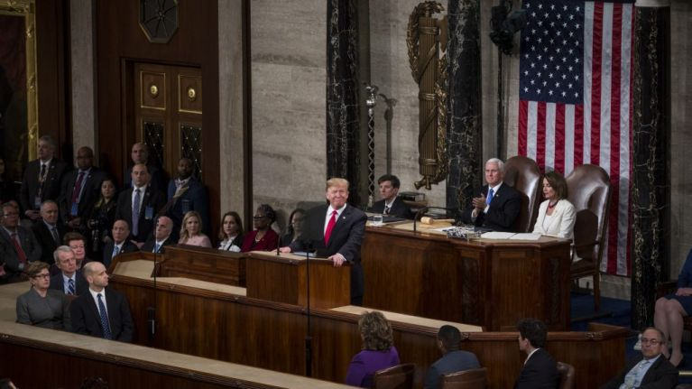 A list of falsehoods in Trump's State of the Union address