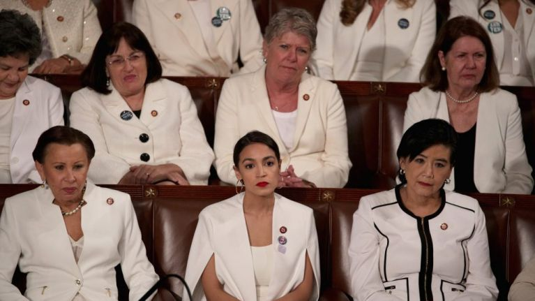 Alexandria Ocasio-Cortez refuses to stand, clap or smile during Trump State of the Union