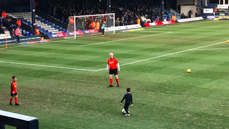 Luton Town let 60-year-old fan become a mascot