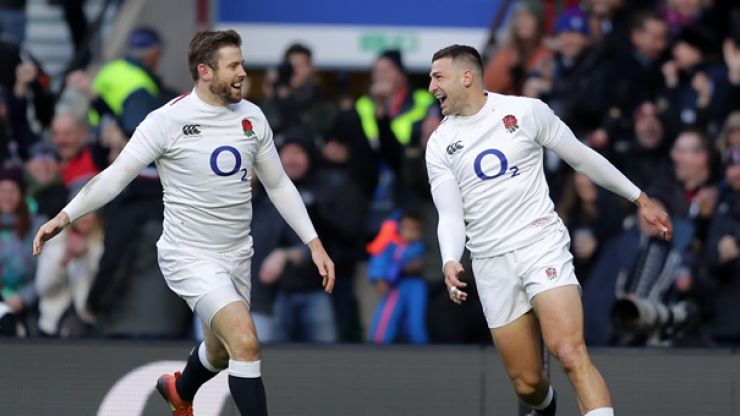 Jonny May shreds France with first-half hat-trick for England