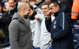 Maurizio Sarri refuses to shake Pep's hand after 6-0 beatdown