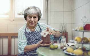 Theresa May scrapes the mould off her jam and then eats the rest