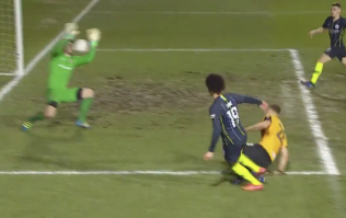 WATCH: Leroy Sane busts Newport goalkeeper's nose with Man City opener