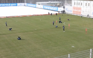 WATCH: Zenit player ridiculed by teammates after being 'tackled' by plastic prop