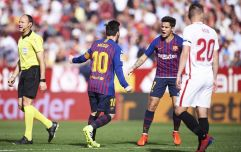 Lionel Messi scores incredible volley to equalise for Barca at Sevilla