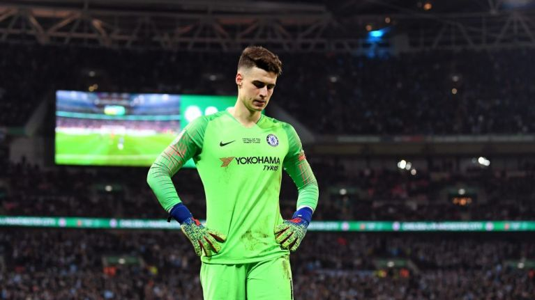 Kepa refuses to leave the field as Maurizio Sarri tries to