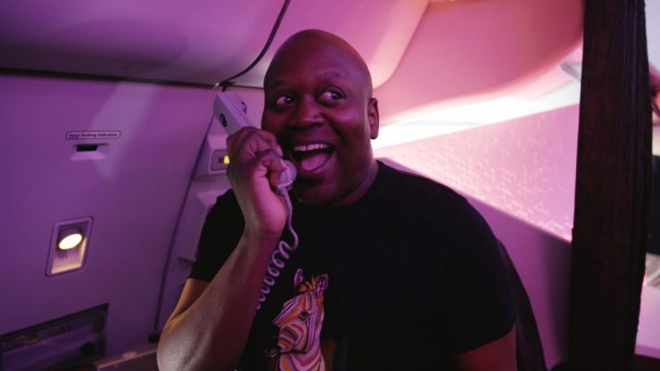 This is a Pride party at 38,000 feet