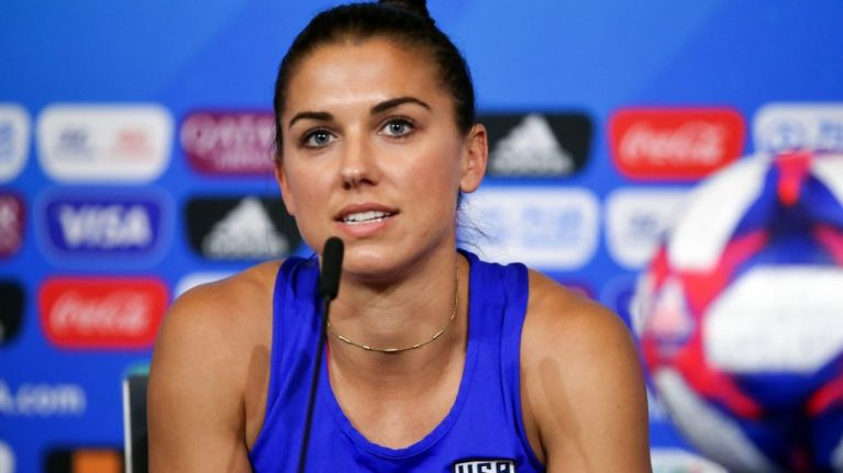 Alex Morgan: 'You see men celebrating all around the world, grabbing their sacks or whatever'