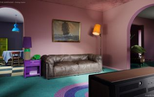 The Simpsons house has been reimagined by interior designers