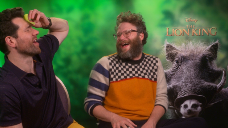 Seth Rogen and Billy Eichner play Guess The Disney Character