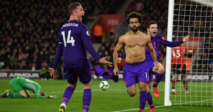 A lot of people missed Mo Salah's perfectly timed celebration dummy