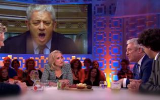 Maximum Bercow as Commons Speaker appears on Dutch TV