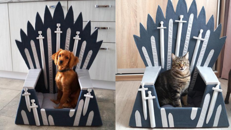 You can buy beds for your pets shaped like the Iron Throne