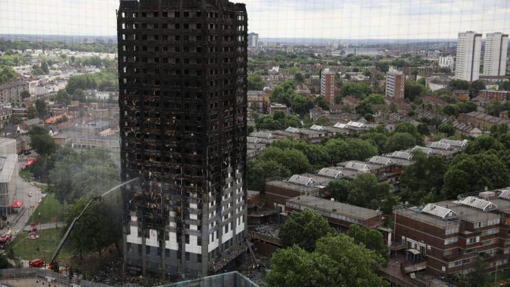 Man charged over video showing burning effigy of Grenfell Tower