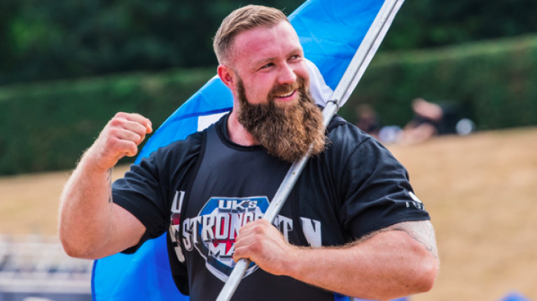 Inside the 7000 calorie diet of one of Scotland's strongest men