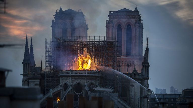 Two French billionaires offer to help rebuild Notre Dame cathedral