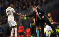 Marc-Andre ter Stegen had a sneaky look at the note Solskjaer passed to Marcus Rashford