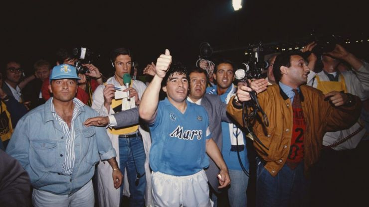 First clip from the new Maradona film captures the madness he cause at Napoli
