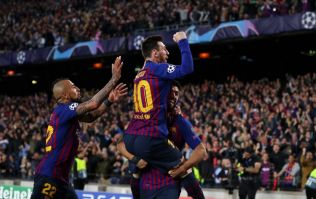 Lionel Messi scores outrageous free-kick to mark his 600th Barcelona goal