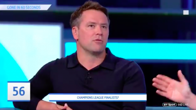 Michael Owen predicts a Liverpool-Barcelona Champions League final because he's Michael Owen