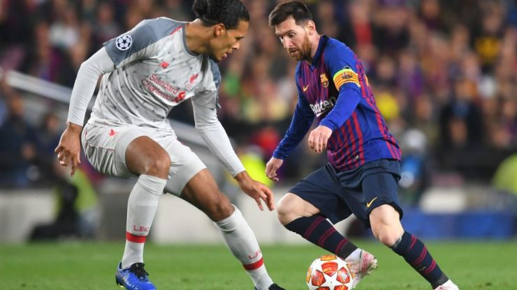 Virgil Van Dijk calls his reported quotes lavishing praise on Lionel Messi 'fake news'