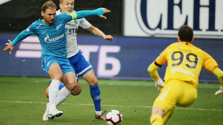 Branislav Ivanovic left terrified by flares during Zenit's title celebrations
