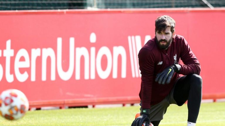 9b1d6104432 Liverpool goalkeeper Alisson to wear one-off shirt against Barcelona that  is  not available