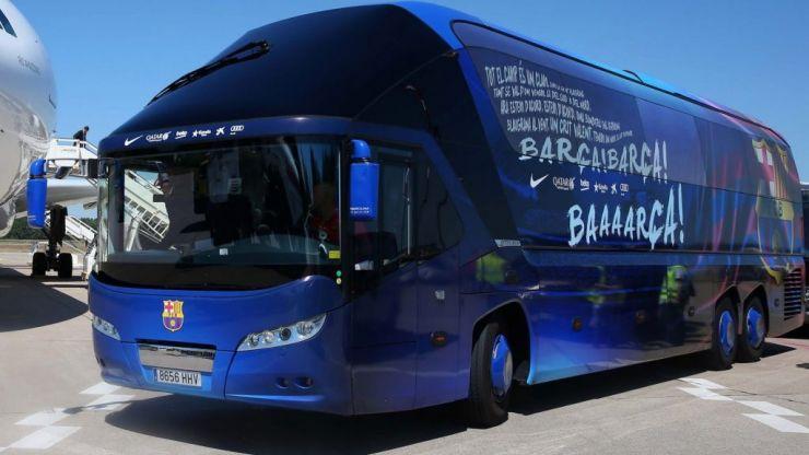 Merseyside police shut down rumours the Barcelona team bus was stolen in Liverpool