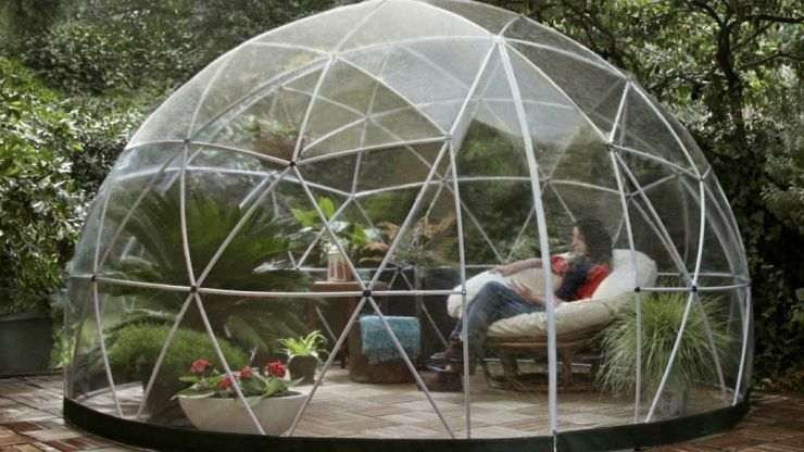 You can now buy a glass igloo to add some swag to your garden this summer
