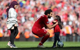 Mo Salah's daughter gets Anfield's biggest cheer of the day with goal at the Kop end