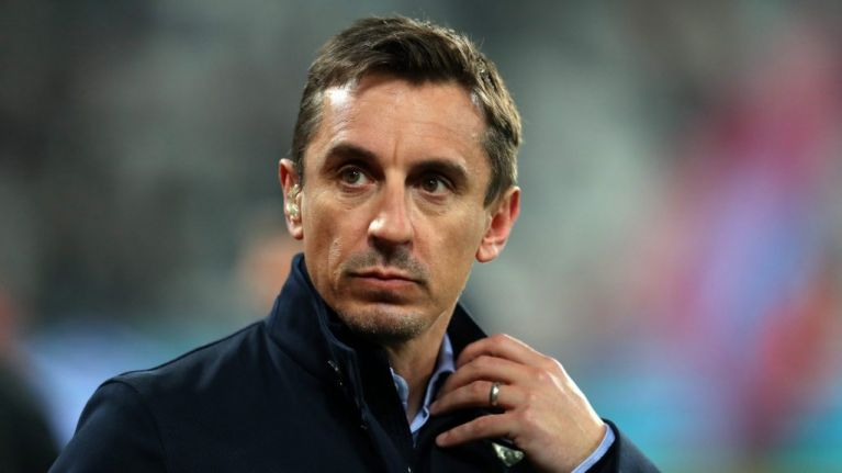 Manchester City fans abuse and throw beer at Gary Neville following win over Brighton