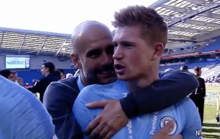 "WATCH: Kevin De Bruyne calls Pep Guardiola a ""sh*t coach"" during Man City celebrations"