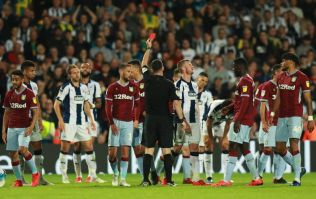 Jonathan Kodjia dabs Chris Brunt down the tunnel after red card